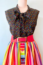 Rainbow Bow Top by Retrolicious