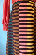 Striped A-Line Skirt by Compania Fantastica