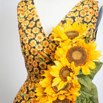 Marie Dress in Sunflower Print By Heart of Haute