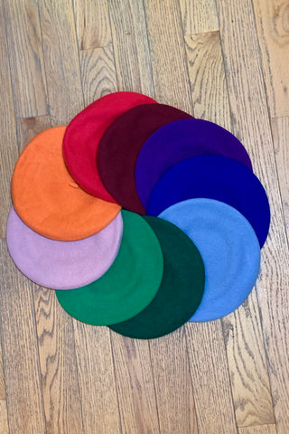 Colorful Wool Beret in Multiple Colors!