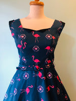 Dawn Flamingo Dress by Miss Lulo