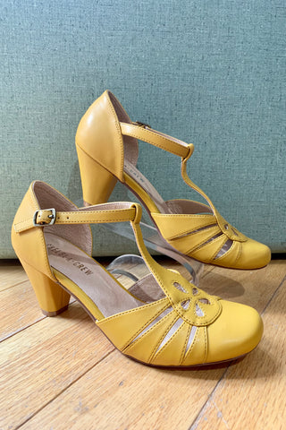 Memories Heel in Mustard by Chelsea Crew