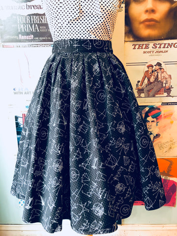 Doris Skirt in Equations by Retrolicious
