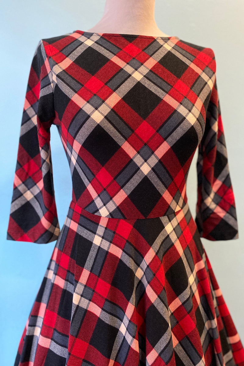 Red and Black Plaid Nicole Dress