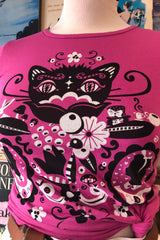 Pink Cheshire Cat Tee by Blue Platypus
