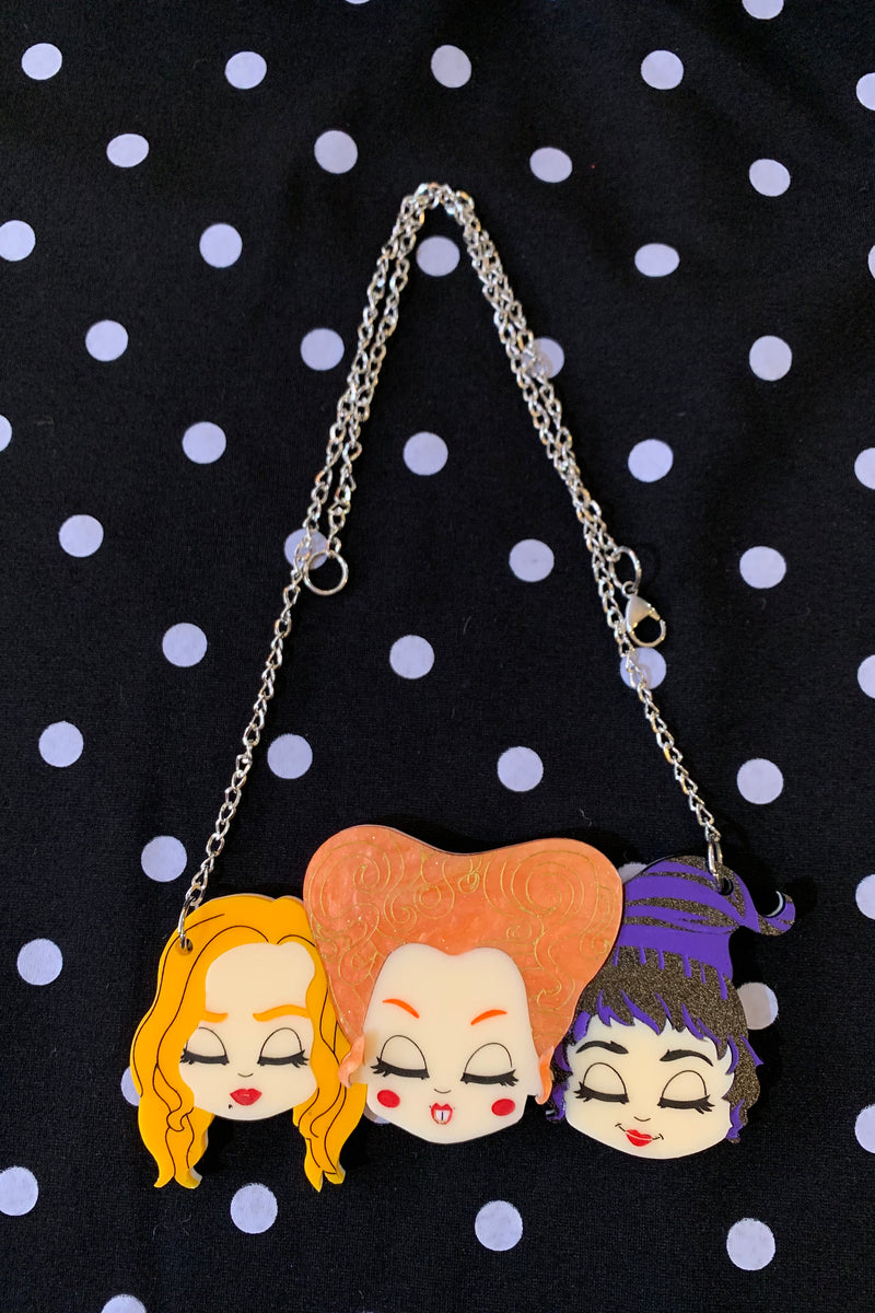 Sanderson Sisters of Hocus Pocus Necklace by Daisy Jean Florals