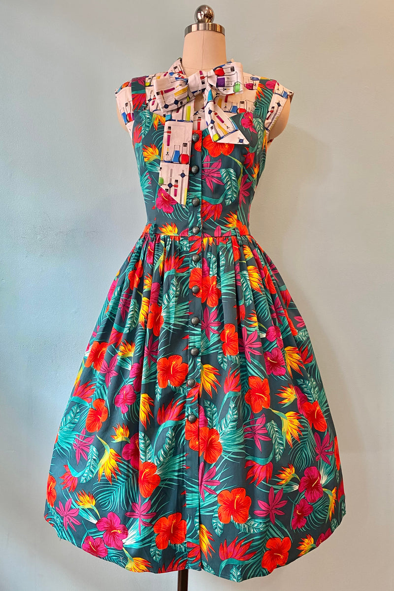 Jemima Tropico Swing Dress by Collectif