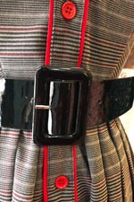 Patent Leather Belt in Black by Tatyana