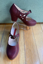 Wine Red Raglan Mary Jane Shoes by B.A.I.T.