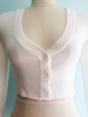 Ivory Perfect Cropped Cardi