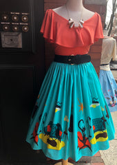 Kitty Klutter Turquoise Circle Skirt by Ains & Elke