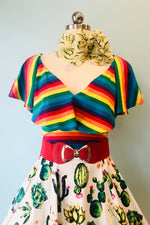 Rainbow Stripe Frenchie Top