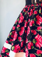 Black and Pink Floral Darienne Dress