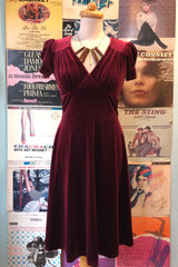 Joanne Dress in Burgundy by Hell Bunny