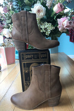 Texan Bootie in Tan by Chelsea Crew