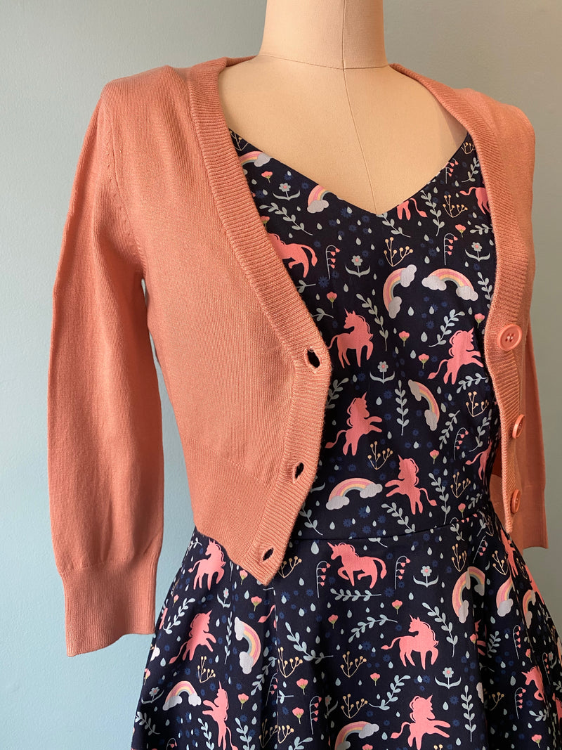 Peach Beige Perfect Cropped Cardi