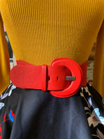 Wide Cinch Elastic Belt in Multiple Colors!