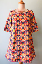 Navy and Red Honeybear Tunic Dress by Blue Platypus