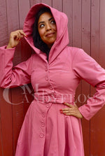 Loris Waterproof Coat in Raspberry by Miss Candyfloss