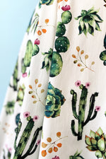 Cactus V-Neck Dress by Eva Rose
