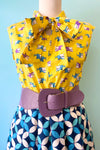 Shark Bow Top in Yellow by Retrolicious