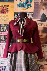 Burgundy Diva Jacket by Heart of Haute