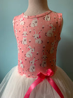 Pink Bunny Tulle Kids Dress