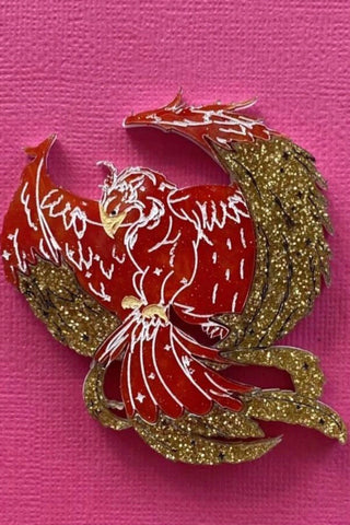 Phoenix Rising Brooch by Daisy Jean