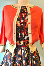 Coral Floral Corsage Cardigan by Palava