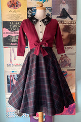 Circle Skirt in Wine Country Plaid by Heart of Haute