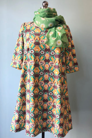 Green Honeybear Tunic Dress by Blue Platypus