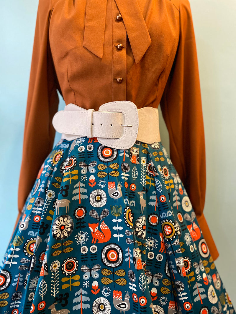 Woodland Fox Full Skirt by Eva Rose
