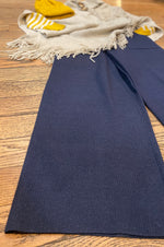 Navy Heather Thick Knit Pants by Saint Geraldine
