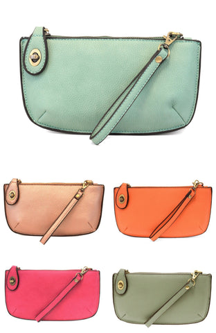 Mini Crossbody Wristlet in Multiple Colors