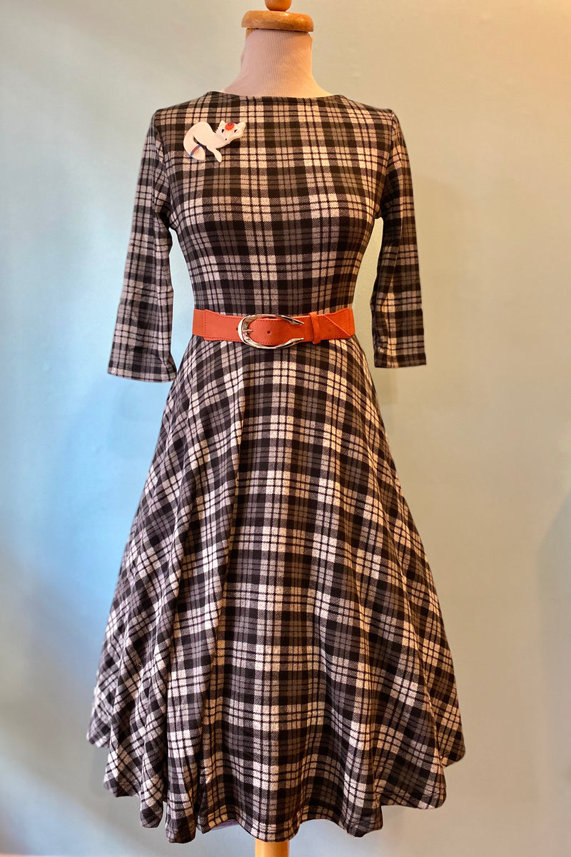 Grey Plaid Nicole Dress