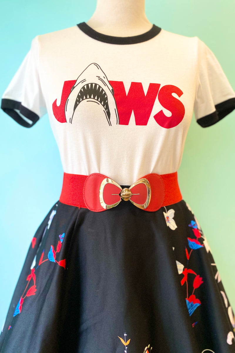 Jaws x Unique Vintage Movie Logo Unisex Tee