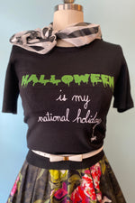 Halloween Forever Knit Top by Hell Bunny