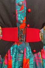 Red Nessa Cinch Belt by Collectif