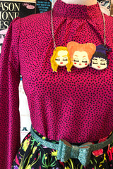 Hot Pink Polka Dot Top by Sheen
