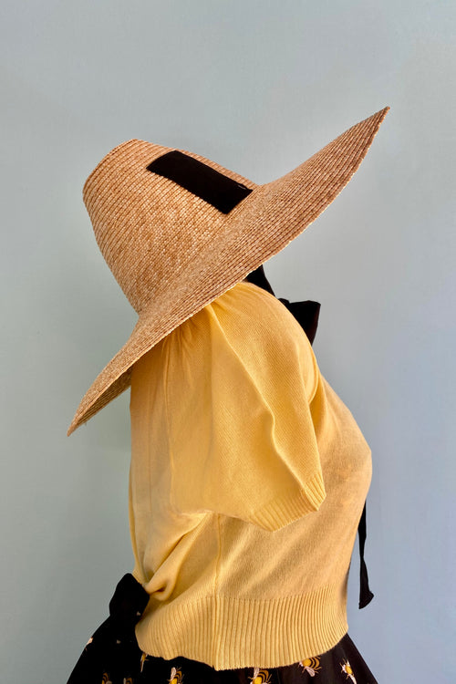Day Tripper Hat with Black Straps by The Oblong Box Shop