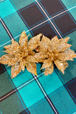 Gold Louise Festive Hair Flower by Collectif