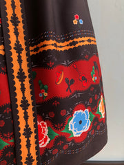 Charlotte Border Print Full Skirt by Voodoo Vixen