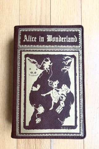 Alice in Wonderland Book Cross-body Bag in Brown
