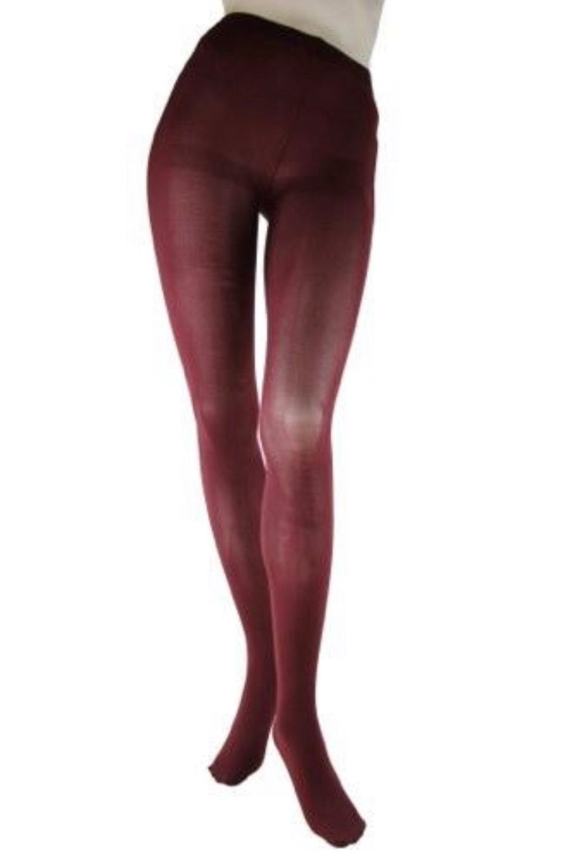 Foot Traffic Burgundy Microfiber Tights O/S and Plus