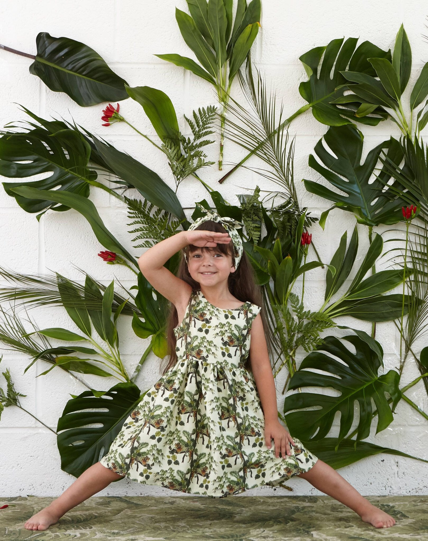 Lounging Leopard Martha Kids Dress by Palava