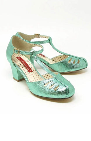 Robbie Heel in Metallic Mint by B.A.I.T.