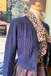Navy Wavy Knit Cardigan by Voodoo Vixen