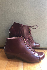 Pyramid Burgundy Bootie by Chelsea Crew