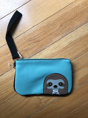Peeking Blue Sloth Wristlet by Sleepyville Critters
