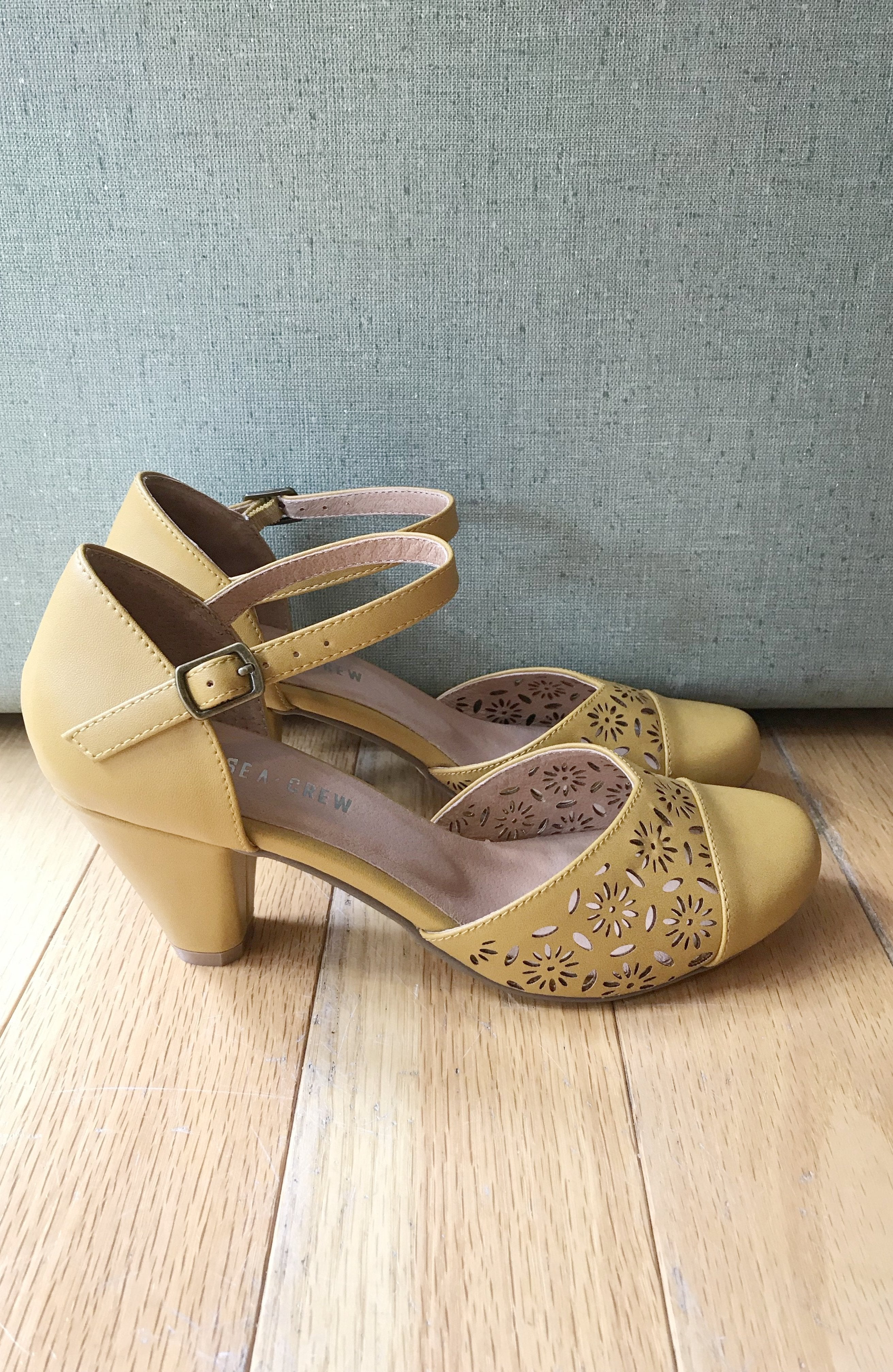Morty Mustard Mary Jane Heels by Chelsea Crew